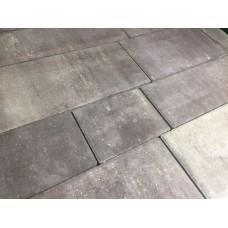 Плитка тротуарная Арт-сити 60 мм белый-св.коричневый-кооричневый МИКС на БПЦ (коллекция)
