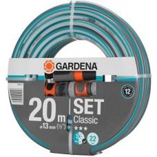 "Шланг Gardena Classic 1/2"" х 20м + соединит.эл-ты + наконечник д/полива Classic"