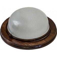 Светильник НБО 03-60-021 круг IP54 220В/60Вт Е27 дерево/орех