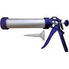 Пистолет для герметика TUNDRA premium закрытый, круглый шток 225мм