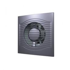 SLIM 4C dark gray metal, Вентилятор осевой вытяжной с обратным клапаном D 100, декоративный