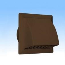 1515К10ФВ кор, Выход стенной  вытяжной с обратным клапаном 150х150 с фланцем D100, ASA. кор