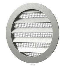 12,5РКМ, Решетка вентиляционная круглая D150 алюминиевая с фланцем D125