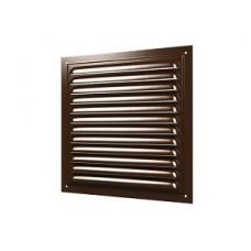 1515МЭ кор, Решетка вентиляционная с покрытием полимерной эмалью, с сеткой 150х150, Сталь,коричневая