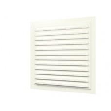 2020МЭ Ivory, Решетка вентиляционная с покрытием полимерной эмалью, с сеткой 200х200, Сталь, Ivory