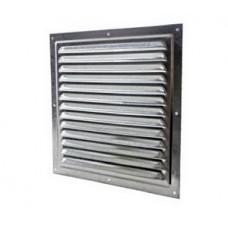 2525МЭ кор, Решетка вентиляционная с покрытием полимерной эмалью, с сеткой 250х250, Сталь,коричневая