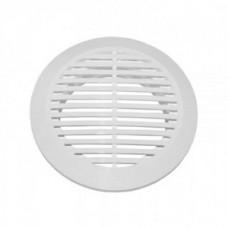 10РКС, Решетка вентиляционная круглая с пластиковой сеткой D130 вытяжная АБС с фланцем D100