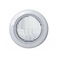 10РПКФ, Решетка вентиляционная круглая D143 приточно-вытяжная АБС с фланцем D100