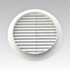 12РКС, Решетка вентиляционная круглая с пластиковой сеткой D150 вытяжная АБС с фланцем D125