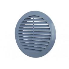 12РКН сер, Решетка наружная вентиляционная круглая D150 с фланцем D125, ASA, серая