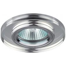 DK7 CH/WH Светильник ЭРА декор стекло круглое хром/зеркальный