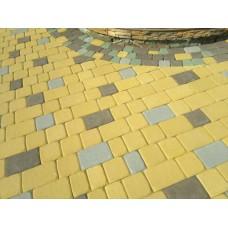 Плитка тротуарная Аурико желтый на БПЦ 60 мм  (коллекция)