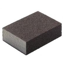 Губка шлифовальная алюминий-оксидная, 100х70х25мм, средняя жесткость  Р60/Р80