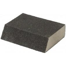 Губка шлифовальная угловая, алюминий-оксидная, 100х70х25мм, средняя жесткость Р60 38372