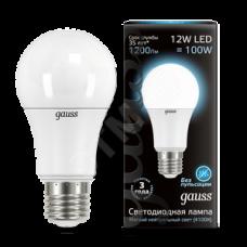 Лампа LED 12Вт А60 Е27 белый свет Gauss