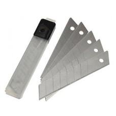 Лезвия  для ножа технического, сегментированные, сменные  18 мм ( 10 шт )