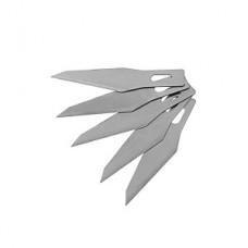Лезвия для ножа макетного, набор 5шт., 6 мм, скошенные 10492