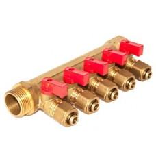 """Коллектор 3/4""""х16х5 с шар. кран. для м/п труб"""