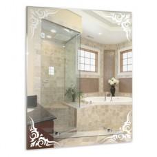 46181в Eva Gold Зеркало с полкой, с мат. вставками (кленовый лист),  68*53
