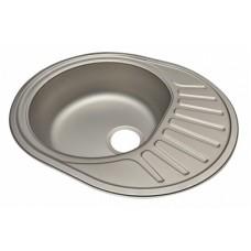 Мойка кухонная стальная 48х60 декор левая BETANOX Толщина стали-0,6 мм Глубина чаши-160 мм
