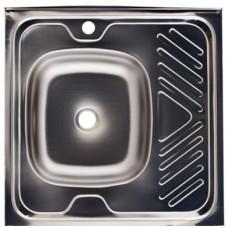 Мойка кухонная стальная 60 х 60 левая BETANOX Толщина стали-  0,4 мм Глубина чаши -135мм