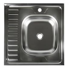 Мойка кухонная стальная 60 х 60 правая BETANOX Толщина стали-0,4 мм Глубина чаши-135мм