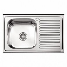 Мойка кухонная стальная 60 х 80 левая BETANOX Толщина стали-0,4 мм Глубина чаши-135мм