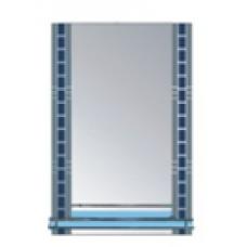 Z015PR Зеркало серебро с синим, с полочкой Размер 700*500mm