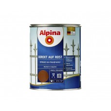 """Alpina Эмаль алкидная """"Прямо на ржавчину"""" Direkt A Rost темно-коричневая RAL8011 0,75 л"""