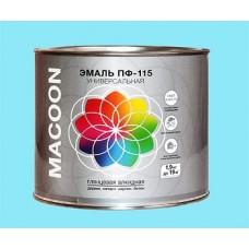 Бирюзовая эмаль ПФ-115 MACOON ГОСТ 1,9 кг