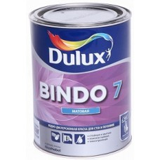 Dulux Bindo 7 краска водно-дисперсионная для стен и потолков матовая база BW ( 1л)