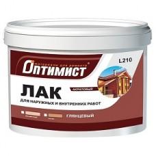 Оптимист Лак для внутненних работ бесцветный матовый 1 кгL 209