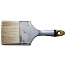 """Кисть флейцевая """"Техно"""", искусственная щетина, деревянная серая ручка 1,5, 38 мм"""