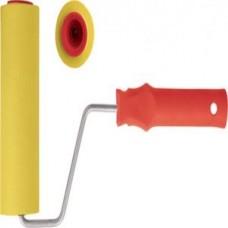 Валик прижимной для обоев резиновый желтый большой диаметр 250 мм