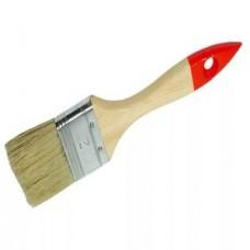Кисть флейцевая,  толщ. 12 мм, 70% ПБT/30% чёрн.натур. щетина, нерж. обжим, пласт. ручка, ширина 30 мм