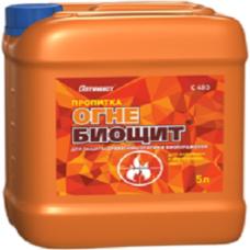 Оптимист Пропитка Огне-биощит для наружных и внутренних работ (изумрудный)10 л