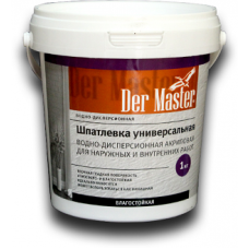 Шпатлевка для наруж/внутренних работ универсальная  3,6 кг Der Master (1шт/168шт)