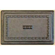 Дверка ПД-1 чугунная без рисунка 150х150 мм для печи продувочная малая поддувальная 555
