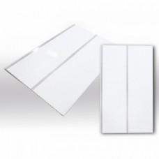Декостар панель 2-х секционная потолочная ЛЮКС (3,0м*0,24м*8мм) (1уп=10шт.) (Серебро)