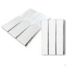 Декостар панель 3-х секционная потолочная ЛЮКС (3,0м*0,24м*8мм) (1уп=10шт.) (Серебро)