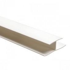 Cоединительный профиль белый ПВХ 3м, 7мм(1уп=30шт)