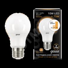 Лампа LED 10Вт А60 Е27 теплый свет Filament OPAL Gauss