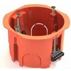 Коробка установочная СП D65x45мм IP30, саморез,пл.лапки, оранж TDM
