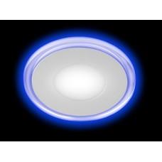 Светильник LED 3-9 BL  ЭРА светодиодный круглый c cиней подсветкой LED 9W 220V 4000K