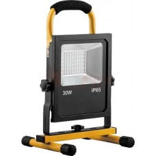 Прожектор светодиодный переносной с зарядным устройством 30W, 6400K, 60*SMD5730, IP65, LL-913
