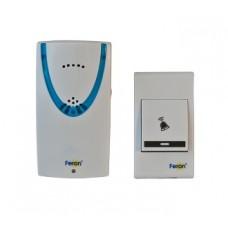 Звонок FERON E-222 белый, синий беспроводной 2*1.5V/AAA, 32 мелодии (60)