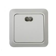 7121-W Выключатель накл 1кл c подсветкой BOLLETO белый ASD 7121