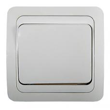 2021-W Выключатель СП  1кл CLASSICO белый ASD