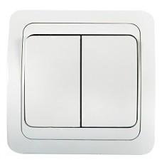 2023-W Выключатель СП  2кл CLASSICO белый ASD