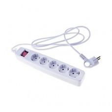 SF-5es-2m-W Сетевой фильтр ЭРА (белый) с заземл, 3х1мм2, со шт., с выкл, 5гн, 2м, кор